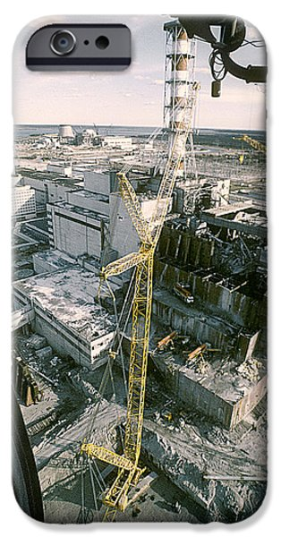 Power Industry iPhone Cases - Chernobyl Nuclear Power Station iPhone Case by Ria Novosti