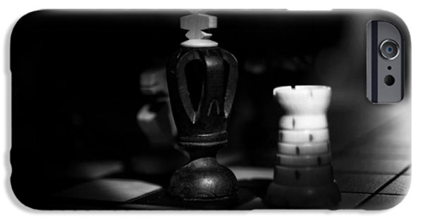Chess Queen iPhone Cases - Chess Pieces iPhone Case by Skitter Photo