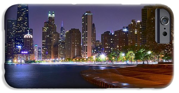 Soldier Field iPhone Cases - Chicago from the North iPhone Case by Frozen in Time Fine Art Photography