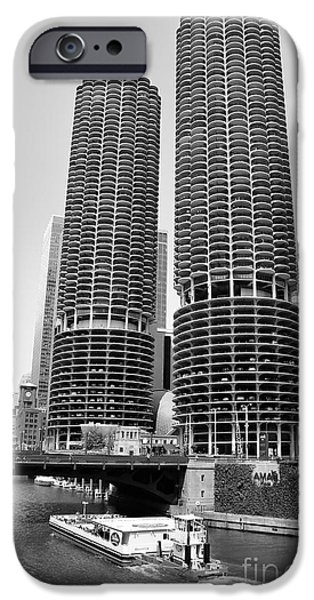 Sears Tower iPhone Cases - Chicago Marina City iPhone Case by Michael Paskvan