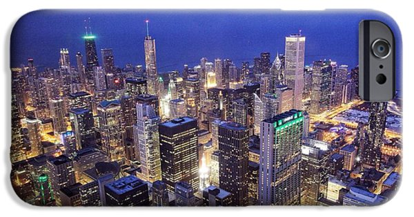 Willis Tower iPhone Cases - Chicago Sky Deck iPhone Case by Michael Paskvan