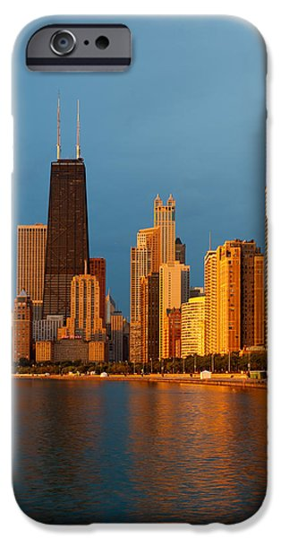 Buildings iPhone Cases - Chicago Skyline iPhone Case by Sebastian Musial
