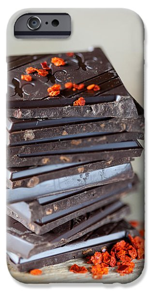 Snack Bar iPhone Cases - Chocolate and Chili iPhone Case by Nailia Schwarz