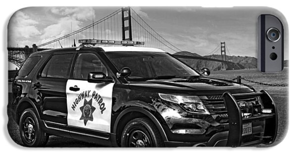 Police Patrol Law Enforcement iPhone Cases - CHP Police Interceptor Utility Vehicle iPhone Case by Chp