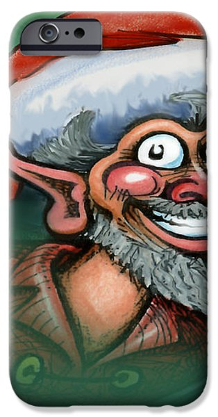 Christmas Elf iPhone Case by Kevin Middleton