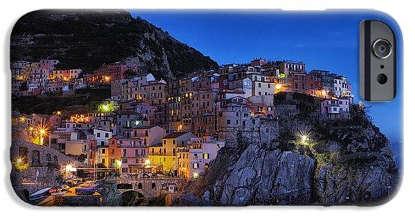 Ocean Sunset iPhone Cases - Cinque Terre At Dusk iPhone Case by Unsplash