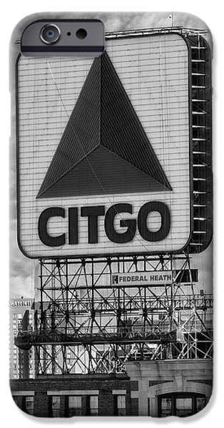 Boston Red Sox iPhone Cases - Citgo Sign Kenmore Square Boston iPhone Case by Susan Candelario