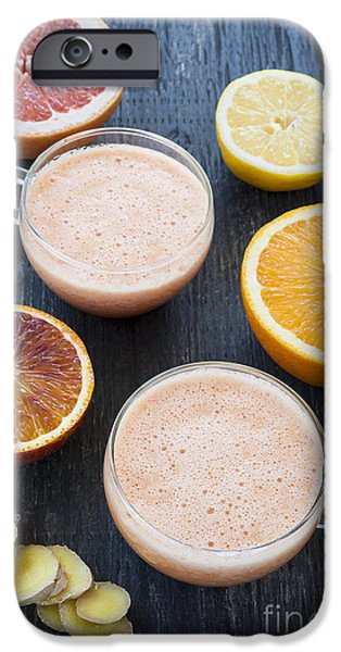 Blend iPhone Cases - Citrus smoothies iPhone Case by Elena Elisseeva