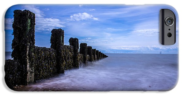 North Sea Photographs iPhone Cases - Clacton Beach iPhone Case by Martin Newman