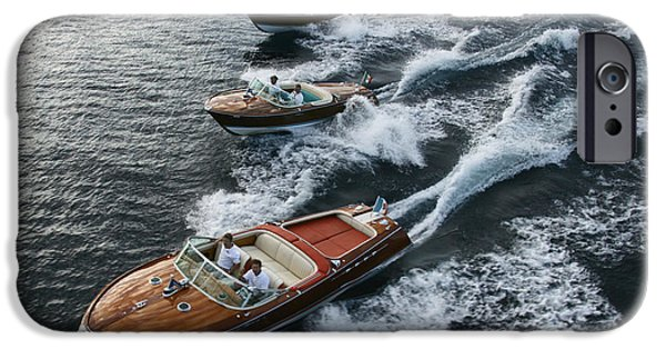 Boat iPhone Cases - Classic Riva Runabouts iPhone Case by Steven Lapkin