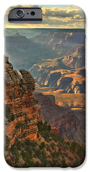 Red Rock iPhone Cases - Clearing Storm At Sunset iPhone Case by Stephen  Vecchiotti