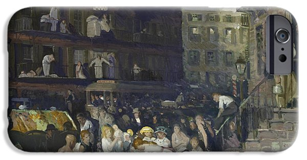 Laundry Paintings iPhone Cases - Cliff Dwellers iPhone Case by George Wesley Bellows