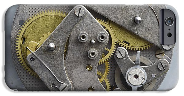 Watch Parts iPhone Cases - Clockwork Mechanism iPhone Case by Michal Boubin
