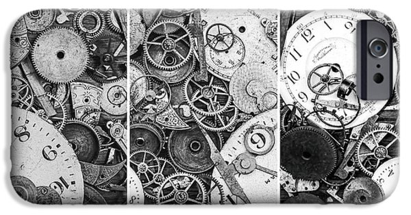Cog Wheels iPhone Cases - Clockworks Still Life iPhone Case by Tom Mc Nemar
