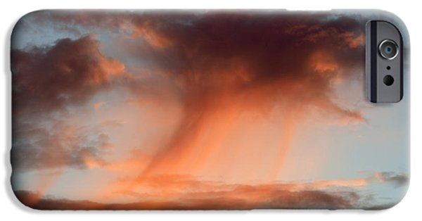 Gloaming iPhone Cases - Clouds At Sunset iPhone Case by Michal Boubin