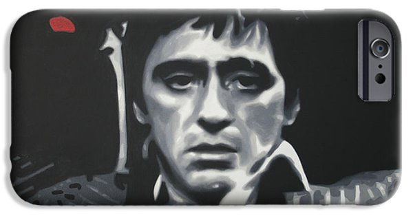 Scarface iPhone Cases - Cocaine 2013 iPhone Case by Luis Ludzska