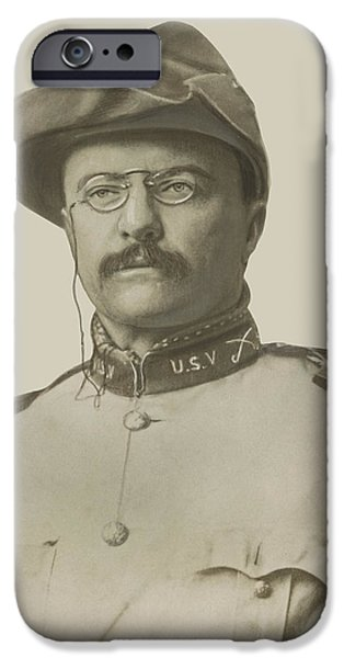 President Photographs iPhone Cases - Colonel Theodore Roosevelt iPhone Case by War Is Hell Store