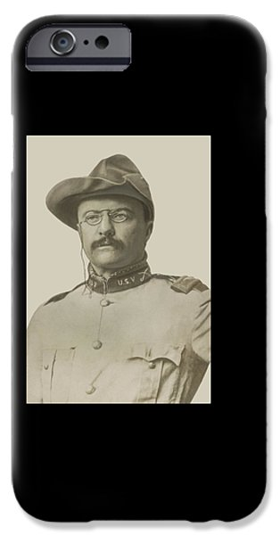 President iPhone Cases - Colonel Theodore Roosevelt iPhone Case by War Is Hell Store