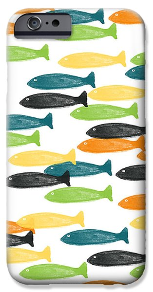 Fish Mixed Media iPhone Cases - Colorful Fish  iPhone Case by Linda Woods