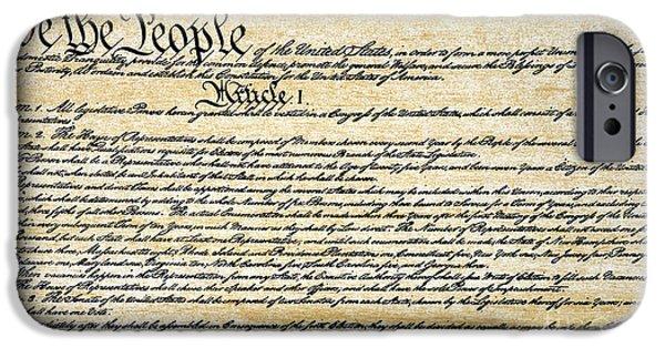 Constitution iPhone Cases - Constitution iPhone Case by Granger