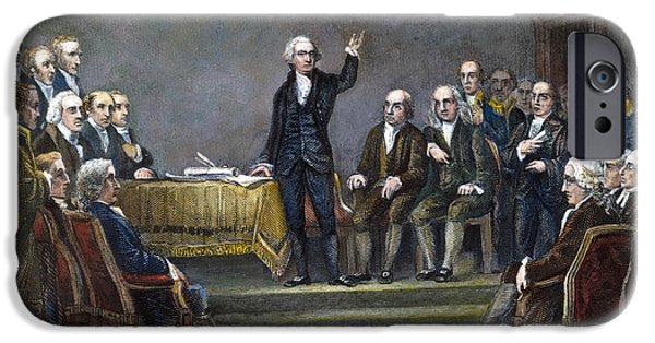 Michael Angelo iPhone Cases - Constitutional Convention iPhone Case by Granger