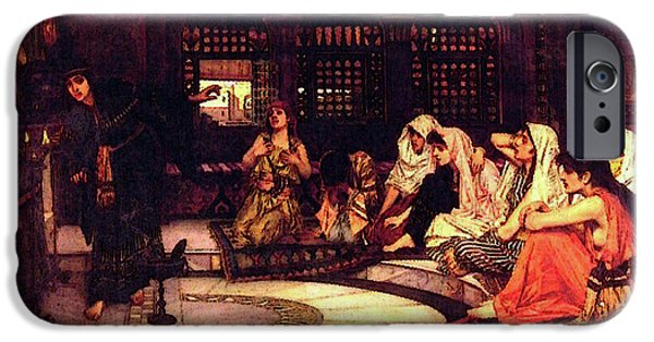 Oracle iPhone Cases - Consulting The Oracle iPhone Case by John William Waterhouse