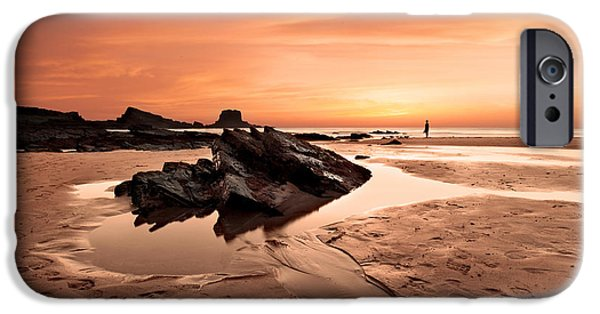 Beach Landscape iPhone Cases - Contemplating iPhone Case by Jorge Maia