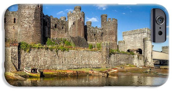 Beach iPhone Cases - Conwy Castle iPhone Case by Adrian Evans