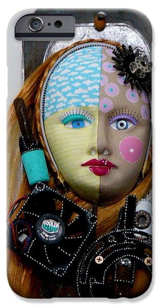 Original Sculptures iPhone Cases - Cool And Level Headed iPhone Case by Keri Joy Colestock