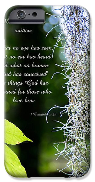 Miracle iPhone Cases - 1 Corinthians 2 9 iPhone Case by Andrea Anderegg
