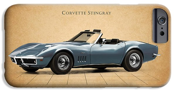 Sting Ray iPhone Cases - Corvette Stingray iPhone Case by Mark Rogan