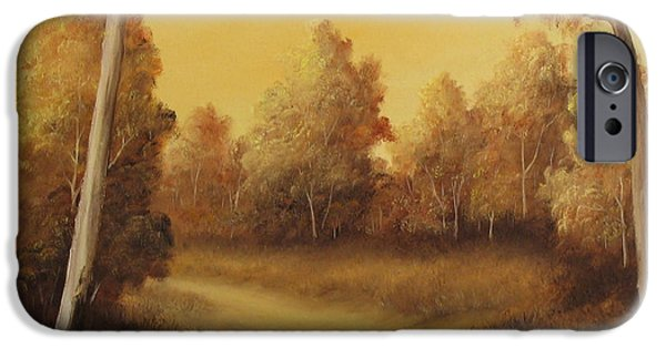 Sunset Reliefs iPhone Cases - Country Road Sunset iPhone Case by John Cocoris