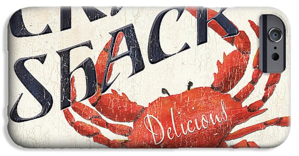 Seafood iPhone Cases - Crab Shack iPhone Case by Debbie DeWitt