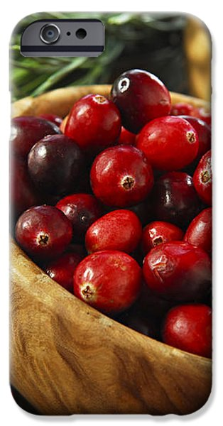 Cranberries in bowls iPhone Case by Elena Elisseeva