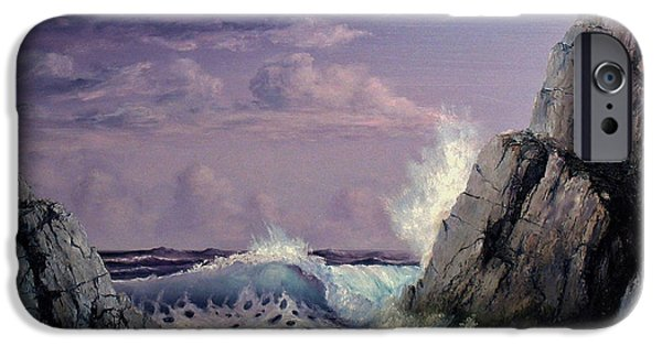 Ocean Reliefs iPhone Cases - Crashing Wave iPhone Case by John Cocoris
