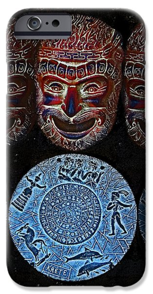 Disc iPhone Cases - CRETE. Legend.  iPhone Case by Andy Za