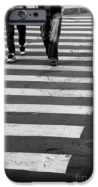 Crosswalk iPhone Cases - Crossing iPhone Case by Gabriela Insuratelu