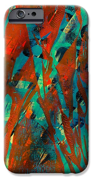Abstract Digital Mixed Media iPhone Cases - Crossing Paths iPhone Case by Laura L Leatherwood