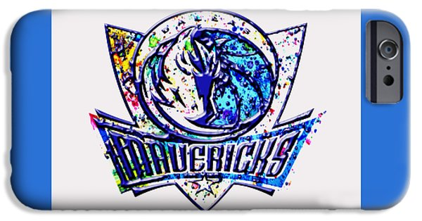 Nike Paintings iPhone Cases - Dallas Mavericks iPhone Case by Brian Reaves