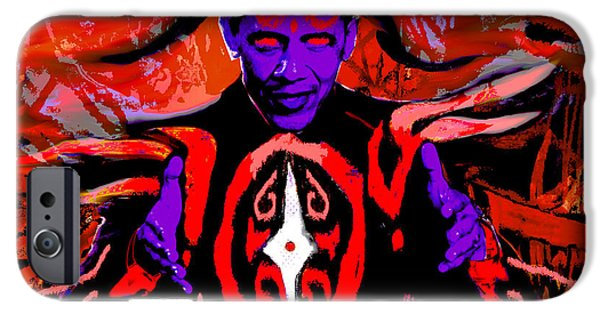 Barrack Obama iPhone Cases - Dark Obamatar iPhone Case by Andrew Kaupe