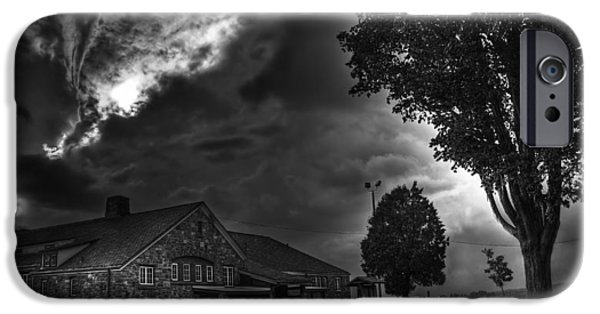 Dark Skies iPhone Cases - Darkness Cometh iPhone Case by Shawn Gaske