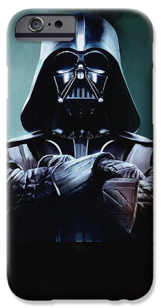 Darth Vader Star Wars  iPhone Case by Michael Greenaway