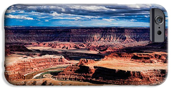 Red Rock iPhone Cases - Dead Horse Point Panorama iPhone Case by Buddy Woods