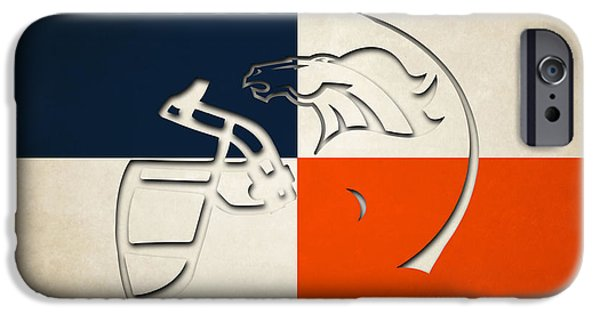 Broncos. Denver Broncos iPhone Cases - Denver Broncos Helmet iPhone Case by Joe Hamilton