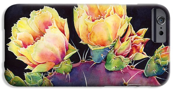 Pears iPhone Cases - Desert Bloom 2 iPhone Case by Hailey E Herrera
