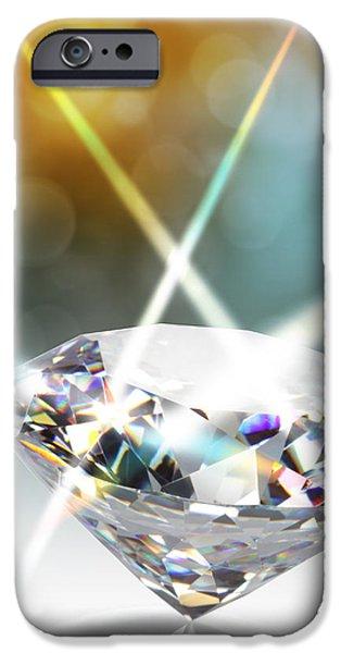 Abundance iPhone Cases - Diamond iPhone Case by Atiketta Sangasaeng