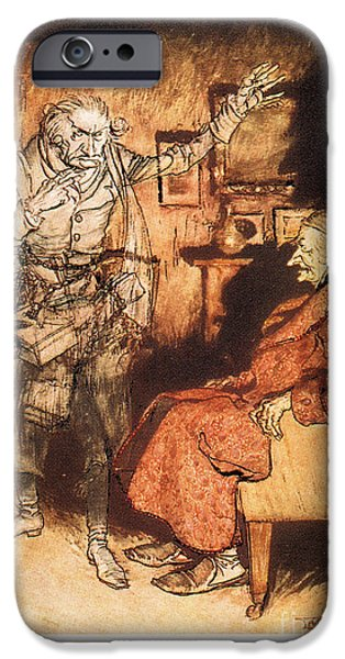 Scrooge iPhone Cases - Dickens: A Christmas Carol iPhone Case by Granger