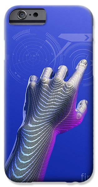 Cyberspace iPhone Cases - Digital Touchscreen, Artwork iPhone Case by Victor Habbick Visions