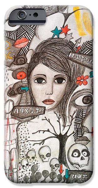 Disorder Drawings iPhone Cases - Disorders iPhone Case by Mental Disorder