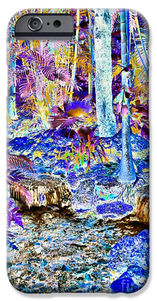Rain Tapestries - Textiles iPhone Cases - Double Waterfall iPhone Case by Edna Weber